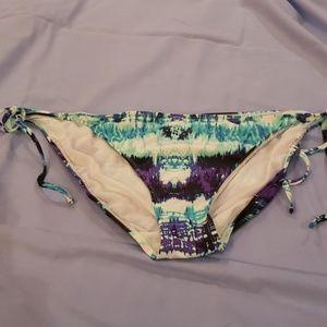 Tie dyed string bikini bottoms